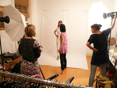 behind the scenes of s/s08 shoot